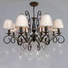Chandelier With Shades 5light Brushed Nickel Chandelier With