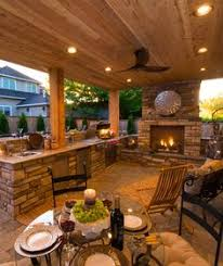 Outdoor Kitchen Designs Featuring Pizza Ovens Fireplaces And - Backyard kitchen design