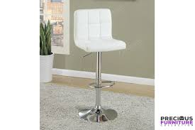 White Faux Leather Chair F1566 White Faux Leather 2 Pieces Bar Stool