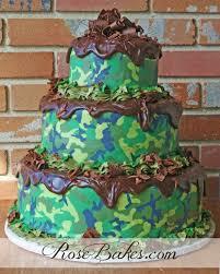 camoflauge cake bakes