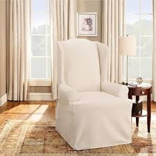 How To Make A Wing Chair Slipcover Cotton Duck Tcushion Chair Slipcover Sure Fit Target