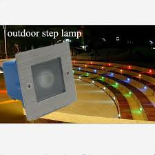 85 265v led waterproof 1w underground lights outdoor step stairs