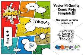 vector comic page template 2 illustrations creative market