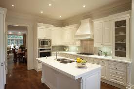 Hardwood Floors With White Cabinets Kitchen Classic White Kitchen Features Rich Dark Hardwood Floor