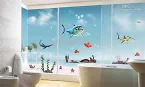 Bathroom Decals For Kids Color Fish Bubble Wall Decals Removable Stickers Kids Art