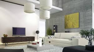 livingroom wall ideas modern living room concrete wall mezzanine interior design ideas