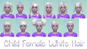 childs hairstyles sims 4 my sims 4 blog white hair for kids by starssugarypixels