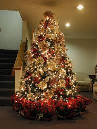 gold tree decorations happy holidays
