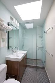 Glass Showers For Small Bathrooms Small Bathroom Lighting Bathroom Modern With Curbless Shower