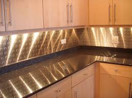 Metal Kitchen Backsplash Ideas Small L Shape Kitchen Decoration Using Silver Tin Metal Kitchen