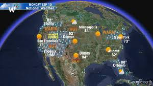 us weather map monday us current weather map