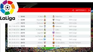 la liga table standings 2016 17 la liga fixtures schedule for laliga santander football