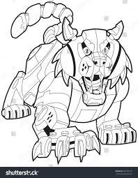 vector cartoon clip art illustration mechanical stock vector