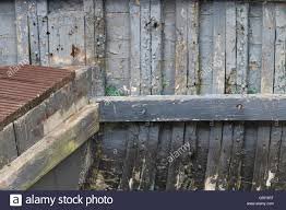 weathered paint on a wooden boat interior stock photo royalty