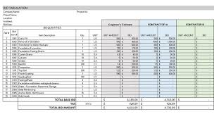Excel Construction Bid Template 5 Of The Top Free Construction Estimate Templates Capterra
