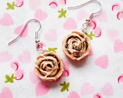 cinnamon bun earrings cinnamon bun earring etsy