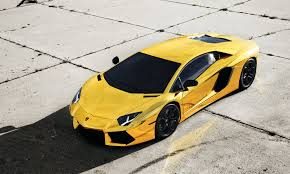 Lamborghini Aventador Gold Machinery Car Tuning Gold Sports Car Hd