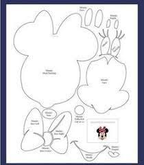 printable minnie mouse outline style minnie mouse