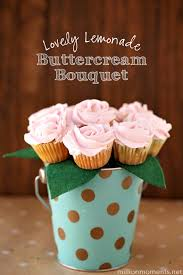 food bouquets berry lemonade buttercream cupcake bouquet