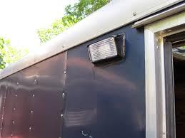 enclosed trailer led lights cargo trailer stealth cer mods light that side door
