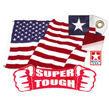 Embroidered American Flag American Flag 4ft X 6ft Super Tough Brand Polyester