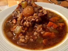 beef barley soup with oxtails cooking from books