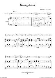 wedding dress piano sheet free wagner wedding march bridal chorus sheet for violin