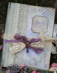 Shabby Chic Wedding Guest Book by Rustic Kraft Wedding Guest Book Hand Bound And Decorated With