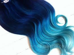 mermaid hair extensions diy blue ombre hair ideas fashion