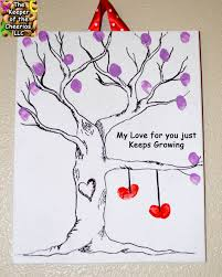 my love for you just keeps growing fingerprint love tree