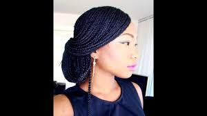 How To Formal Hairstyles by Box Braids Syles The Classic Up Do Tutorial Youtube