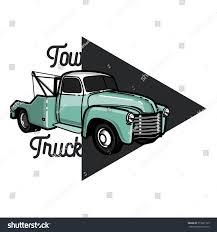 Vintage Ford Truck Emblems - color vintage car tow truck emblem stock vector 510691729
