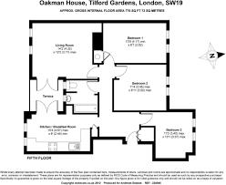 House Plan 45 8 62 4 3 Bedroom Flat For Sale In Oakman House Tilford Gardens London