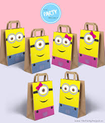 minion baby shower decorations diy printable minions party bags decoration minion candy