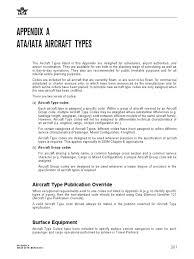 ata iata aircraft types appendix a