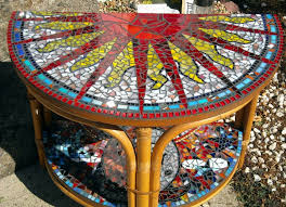 Mosaic Accent Table Fancy Mosaic Accent Table With Mosaic Accent Table Finelymade