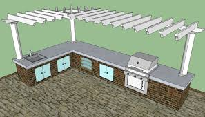 L Shaped Outdoor Kitchen by Outdoor Kitchen Kits Howtospecialist How To Build Step By