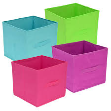 bulk essentials brightly colored collapsible storage containers