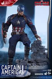 marvel captain america battling version sixth scale figure