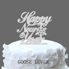 snowflake cake topper happy new year cake topper christmas cake topper