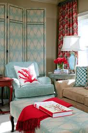 Powder Blue And Poppy Red Rooms Ideas And Inspiration Red Rooms - Red and blue living room decor