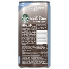 starbucks doubleshot vanilla light starbucks doubleshot espresso cream light 6 5 ounce 12 pack