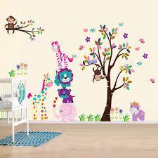 wall stickers art kitchen happy animal children
