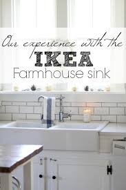 How To Say Ikea Our Experience With The Ikea Domsjo Double Bowl Farmhouse Sink