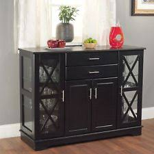 Dining Room Storage Cabinets Glass Transitional Sideboards Buffets Trolleys Ebay
