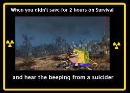 Funny Fallout Memes - fallout 4 spongegar
