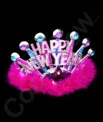 led new years led happy new year tiara coolglow