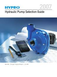 hydraulic pump selection guide pump mechanical engineering