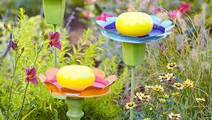create flowery garden ornaments