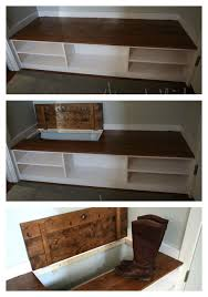 Build A Shoe Storage Bench by Video Hidden Boot Storage In Wasted Space Of Entry Bench Easy